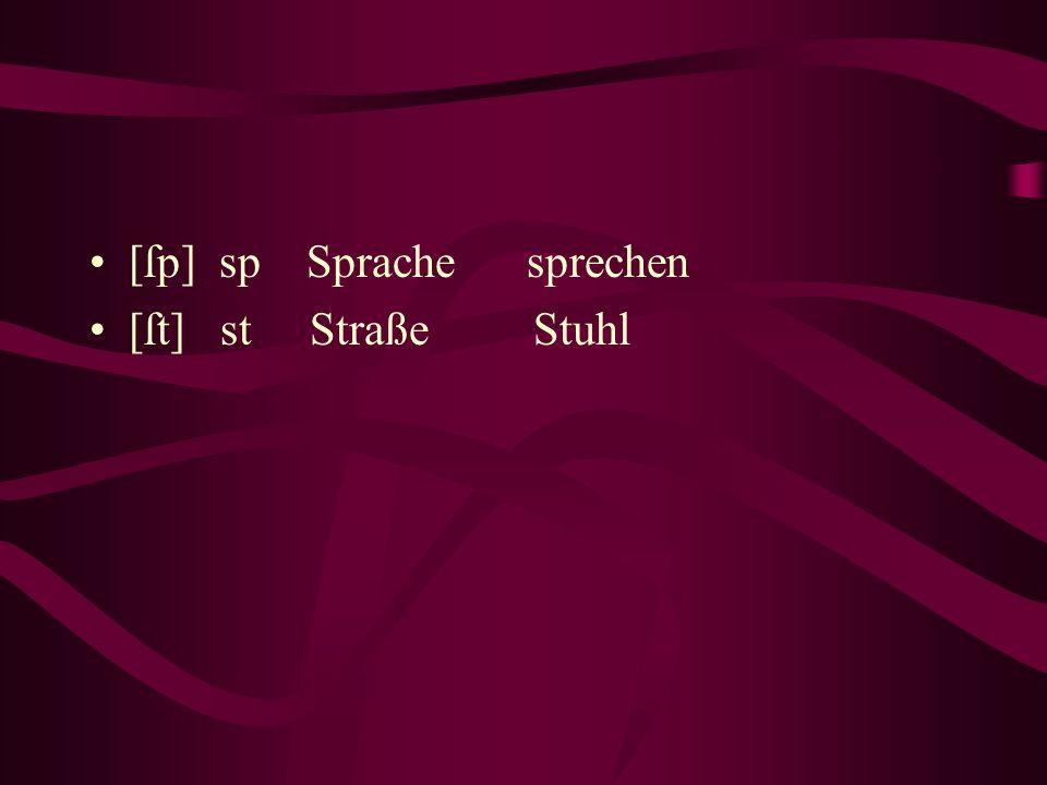 [ſp] sp Sprache sprechen